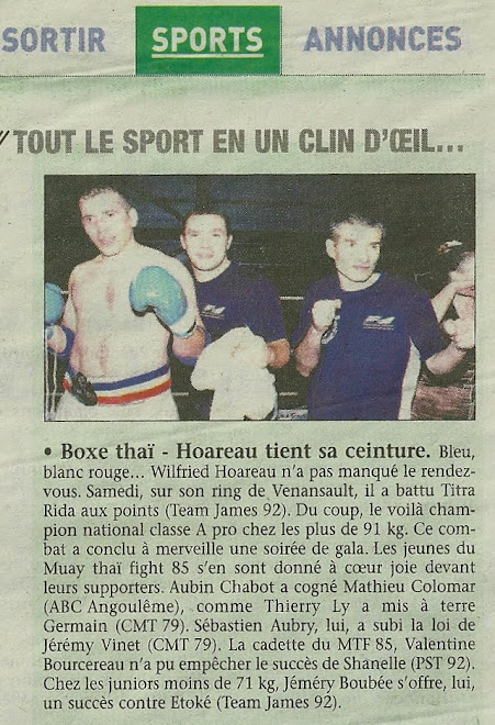 ARTICLE DU JOURNAL DU PAYS YONNAIS DU 01/11/12 EN PAGE SPORT
