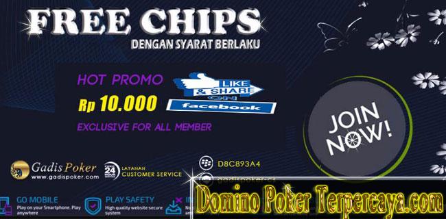 Gadispoker - Freebet Poker IDN 10.000 Gratis Tanpa Deposit
