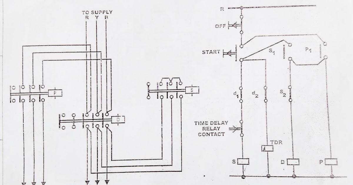 Star delta starter control diagram working principle sciox Images