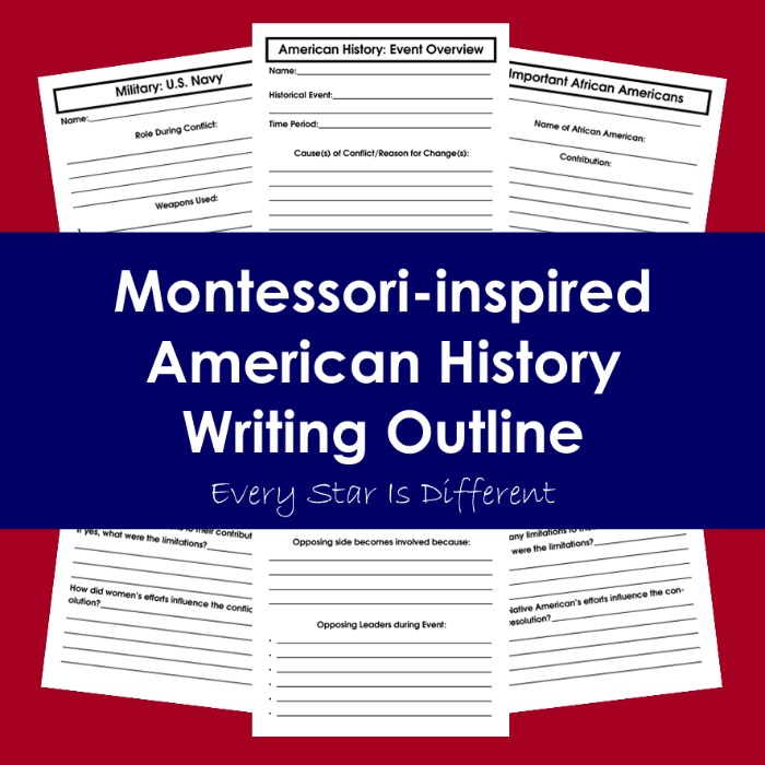 American History Writing Outline