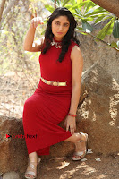 Telugu Actress Zahida Sam Latest Pos in Red Gown at RF Films New Movie Opening  0258.JPG