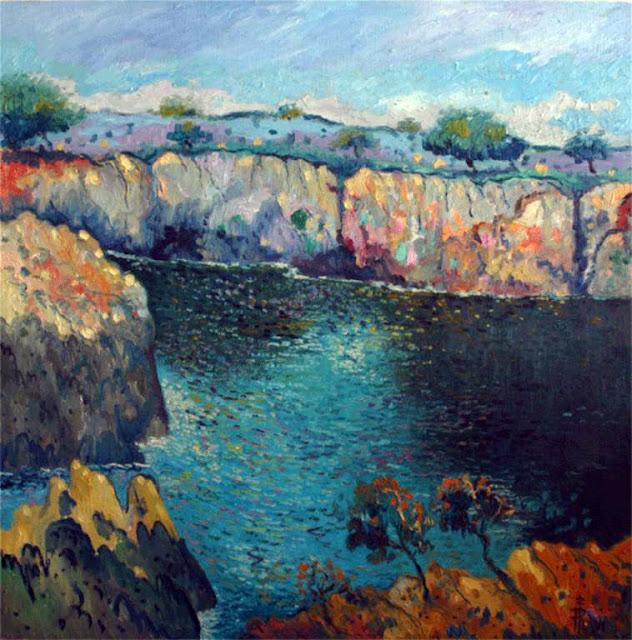 Ramón Pérez Barril, Paisaje de Mallorca,Mallorca en Pintura, Mallorca pintada, Paisajes de Mallorca, Mallorca en Pintura