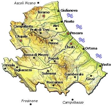 Abruzzo Cartina Politica Dettagliata.Mappa Della Citta Di Provincia Regionale Italia Cartina Politica Dell Abruzzo
