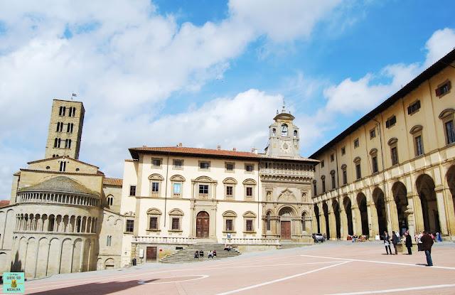 Plaza Grande de Arezzo, Toscana