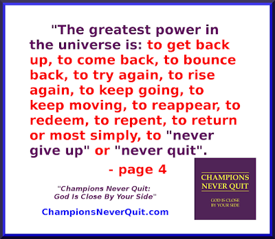 Champions Never Quit: God Is Close By Your Side - Tim McGaffin - page 4 - the greatest power in the universe