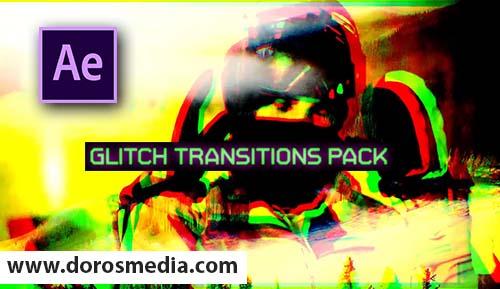 اضافات افتر افكت بريسيت حزمة من انتقالات الكلتش الرائعة للافتر افكت  Glitch Transitions Pack - After Effects Presets | Free download