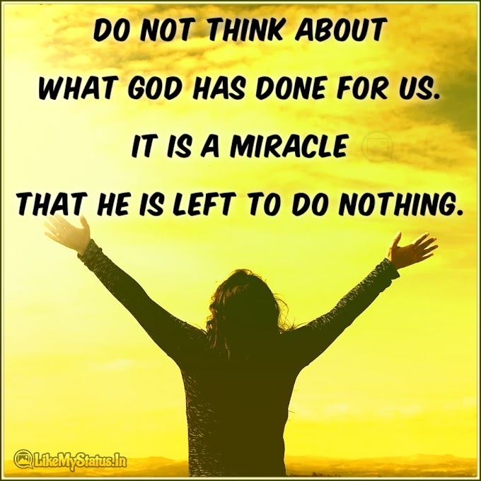 Do not think | God English Quote
