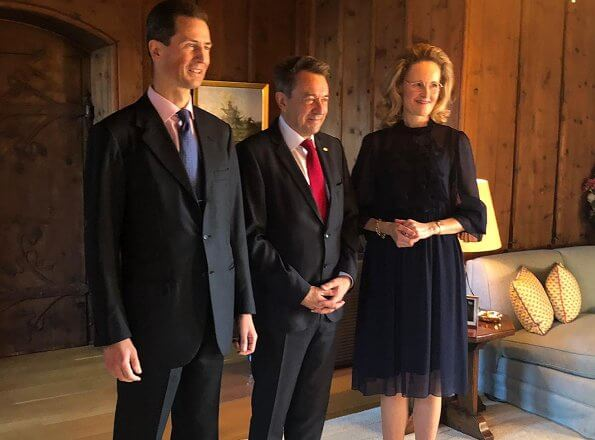 Hereditary Prince Alois and Hereditary Princess Sophie of Liechtenstein met President Peter Maurer. Minister Dr Katrin Eggenberger
