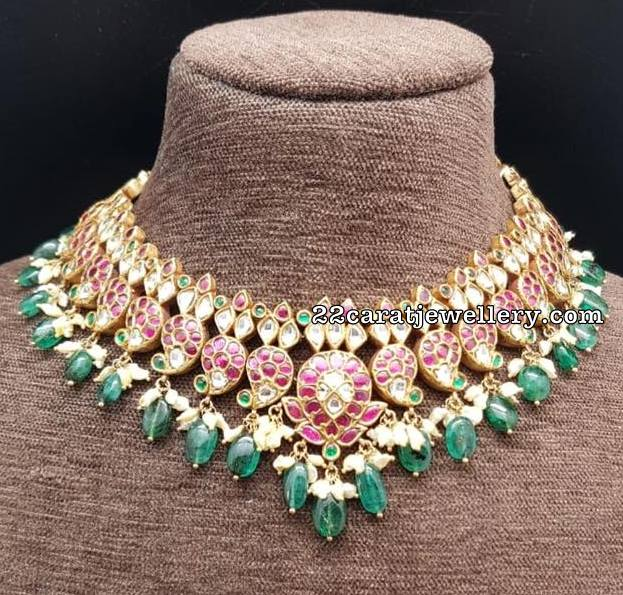 Pretty Kundan Chokers by Amarsons Jewellers