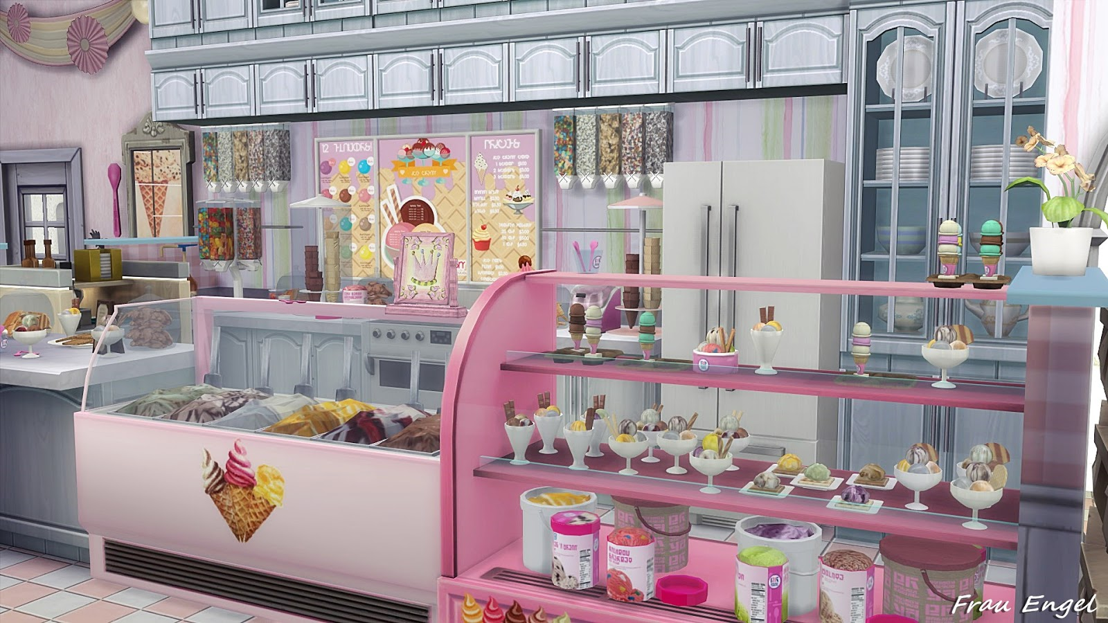 my sims 4 blog ice cream cafe by frau engel. Black Bedroom Furniture Sets. Home Design Ideas