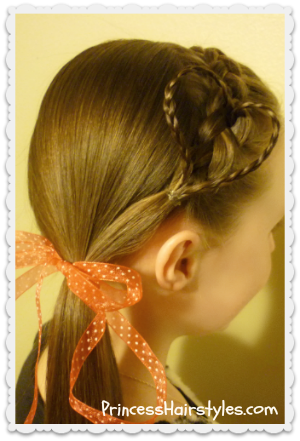 Heart headband hairstyle