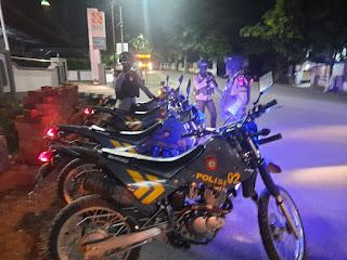 Antisipasi Kejahatan Pada Malam Hari, Satuan Sabhara Laksanaka Patroli Malam