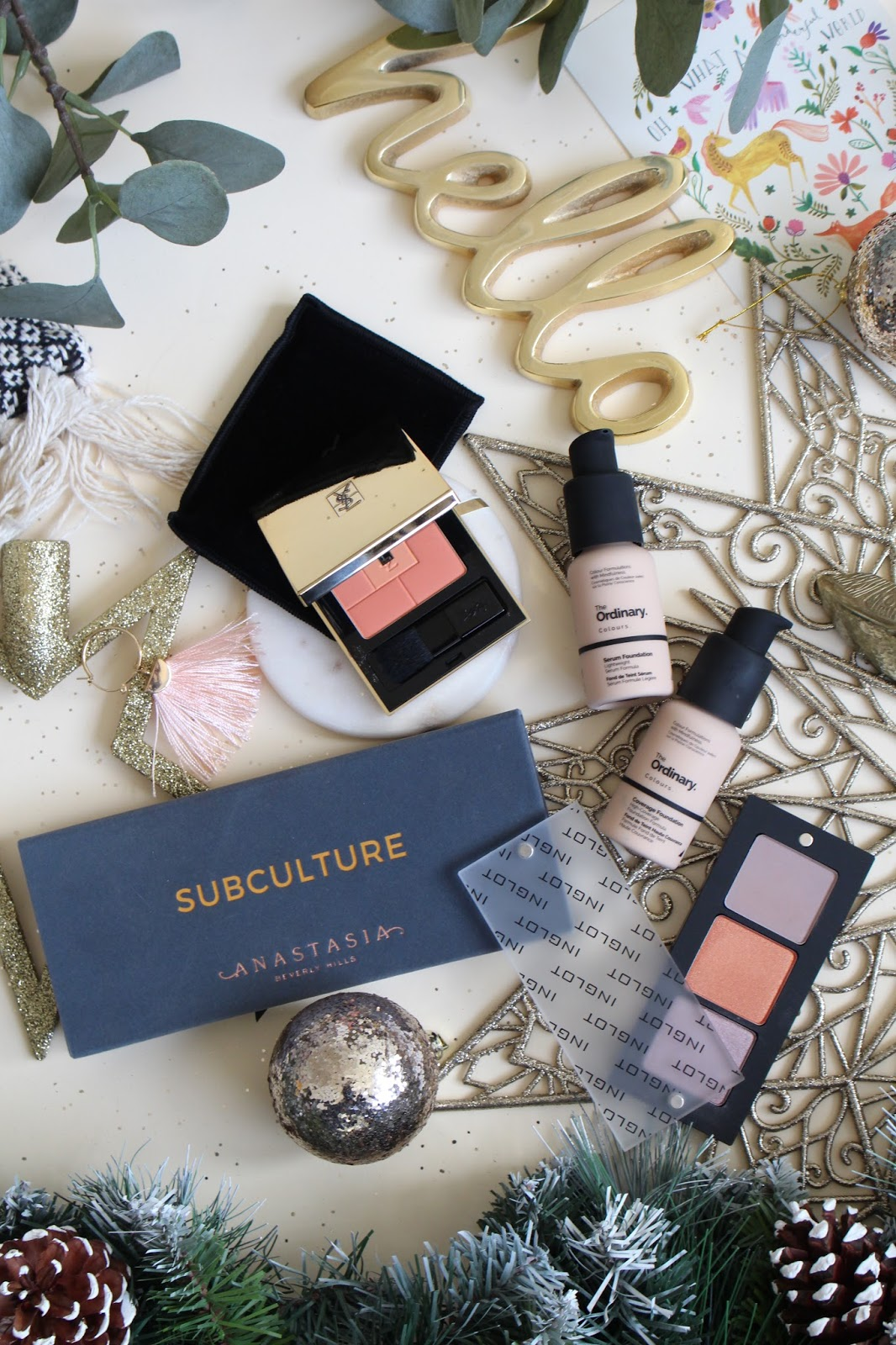 christmas git guide the ordinary foundation ysl blush subculture palette inglot palette