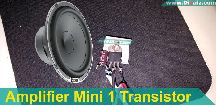 Skema Rangkaian Ampli Mini 1 Transistor