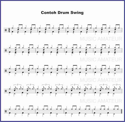 contoh beat drum musik swing partitur