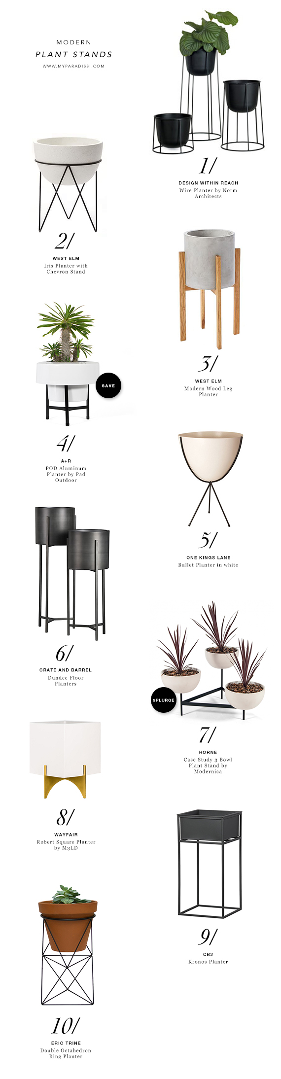 Modern Plant Stands