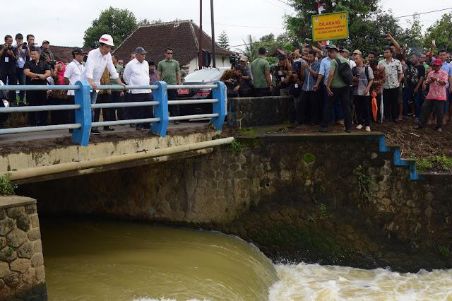 Termasuk Irigasi Lodoyo, Presiden Jokowi: Pemerintah Perbaiki Irigasi Primer 3 Juta Hektar