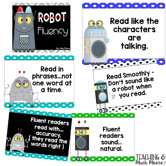fluency posters for the classroom