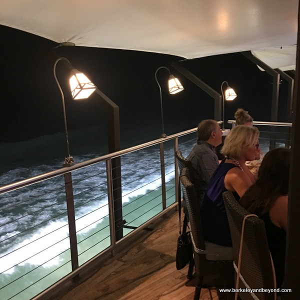 water-side deck at Champers Wine Bar & Restaurant in Christ Church, Barbados