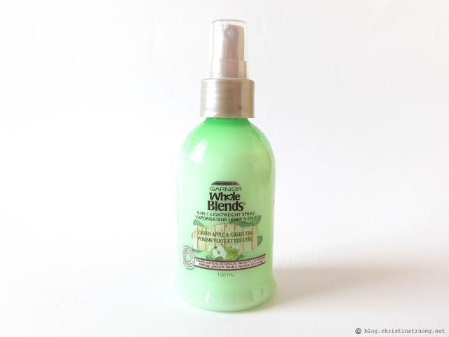 Garnier Whole Blends Green Apple and Green Tea 5-in-1 Lightweight Spray Review