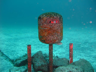 postbox found in water
