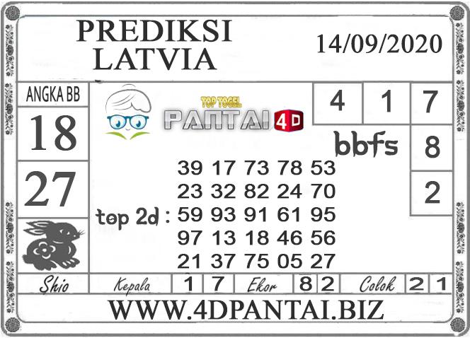 PREDIKSI TOGEL LATVIA PANTAI4D 14 SEPTEMBER 2020