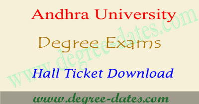 AU Degree hall tickets download 2017 ug exam admit card
