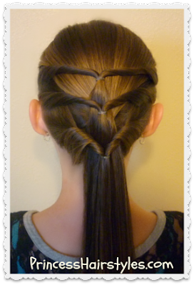 Triple twist ponytail hair tutorial for summer.