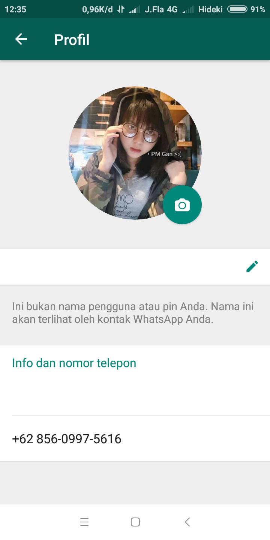 Cara Mudah Membuat Nama Profil Whatsapp Kosongblank Terbaru 100