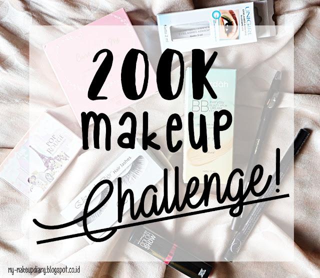 200k makeup challenge