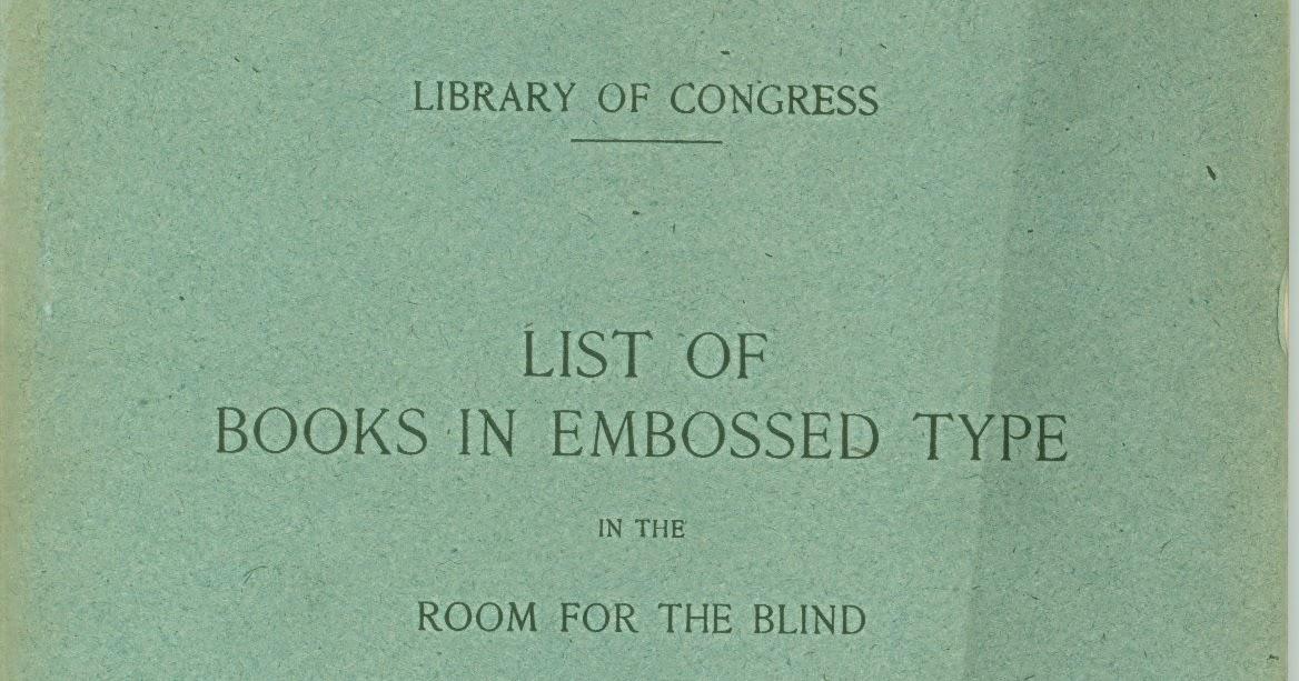 Throwback Thursday: List of Books in Embossed Type