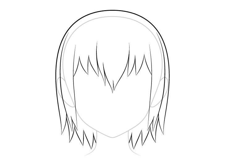 Anime menggambar rambut basah kembali