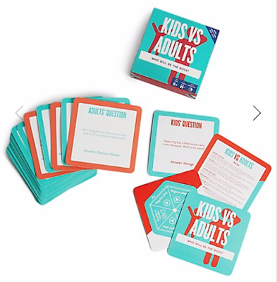 marks and spencer kids vs adults card game