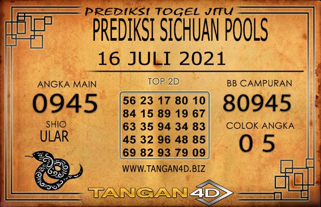 PREDIKSI TOGEL SICHUAN TANGAN4D 16 JULI 2021