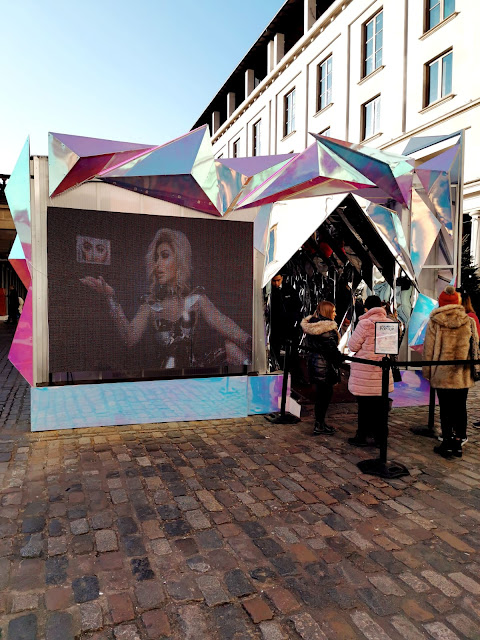 THE HUDA BEAUTY STAND POP UP AT COVENT GARDEN IN LONDON UK