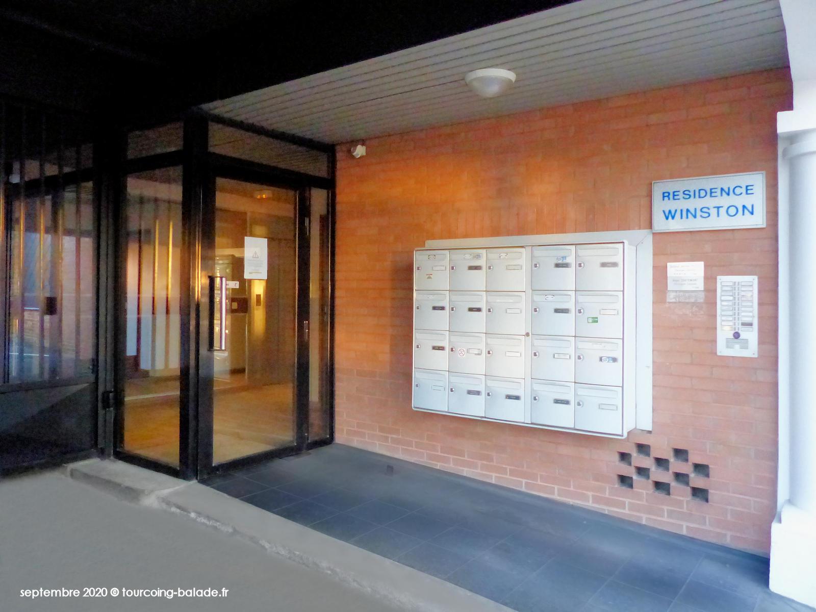 Résidence Winston Tourcoing 2020 - Sas d'entrée