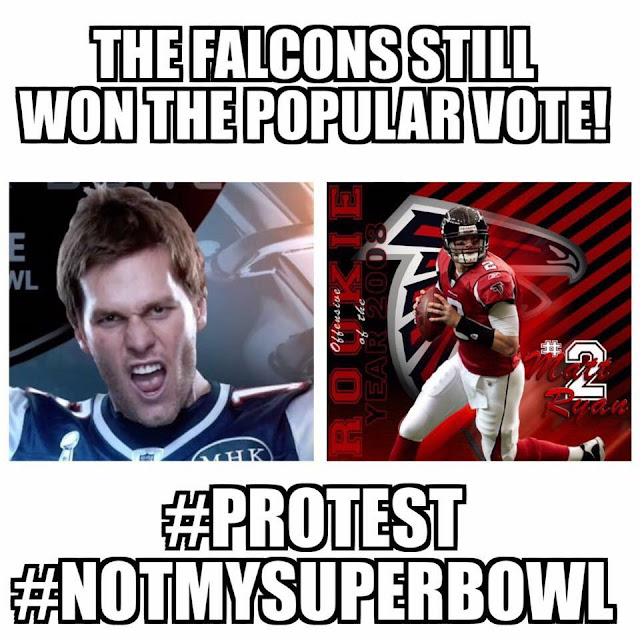 The falcons Still won the popular vote! #protest #notmysuperbowl