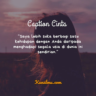 Caption Cinta Romantis