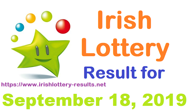 Irish Lottery Results for Wednesday, September 18, 2019