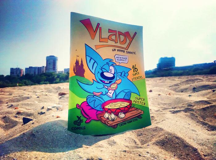 Vlady, un vampir simpatic, cu ilustrații de Alin Teodor Ivan
