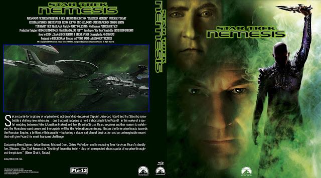 Star Trek Nemesis Bluray Cover