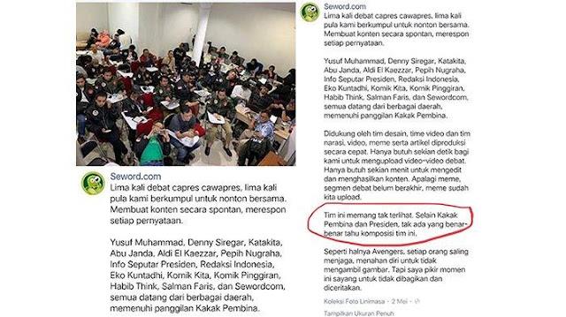 Soal Buzzer Istana, Seword Ungkap Nama di Tim: Denny Siregar, Abu Janda dan Eko Kuntadhi