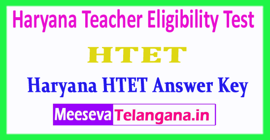 Haryana HTET Answer Key Haryana Teacher Eligibility Test HTET Answer Key 2018 Download