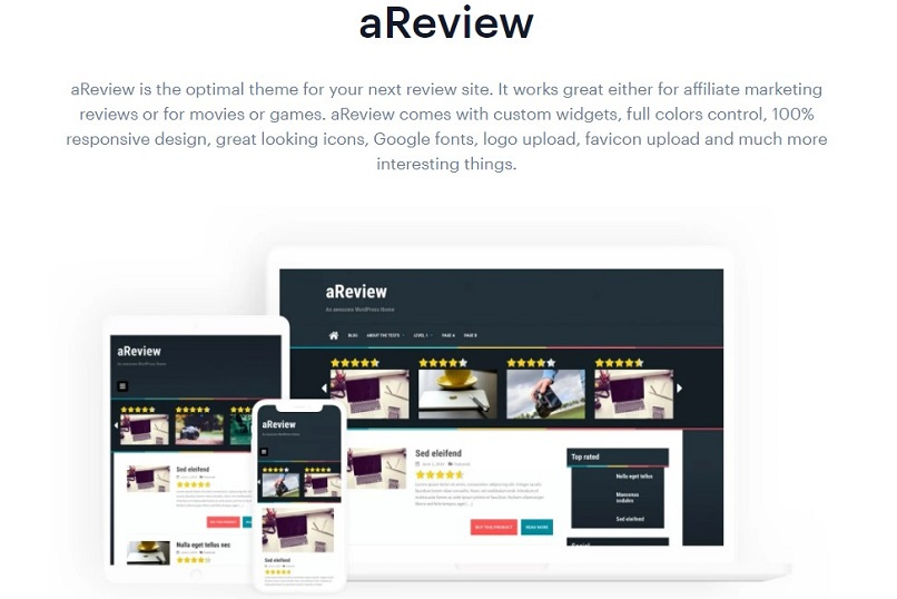 areview theme for affiliate marketing