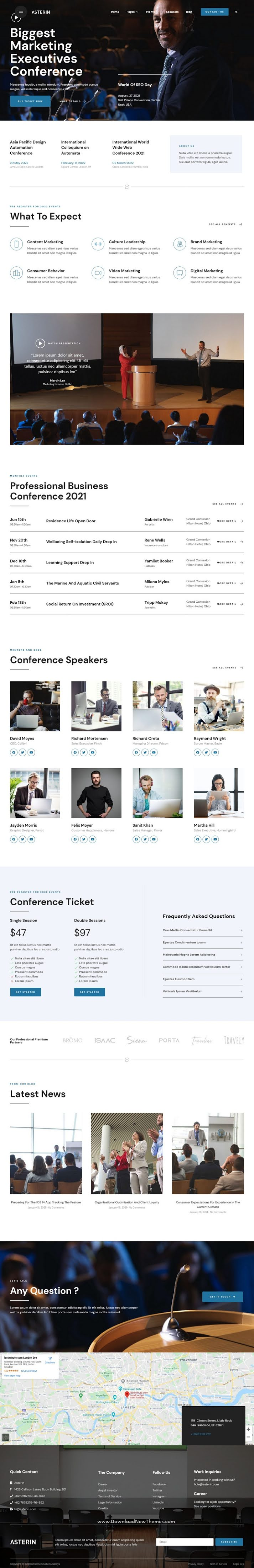 Digital Event and Conference Elementor Template Kit