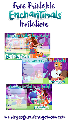 Enchantimals invitations
