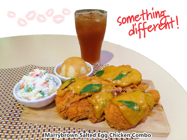Marrybrown Salted Egg Chicken Combo