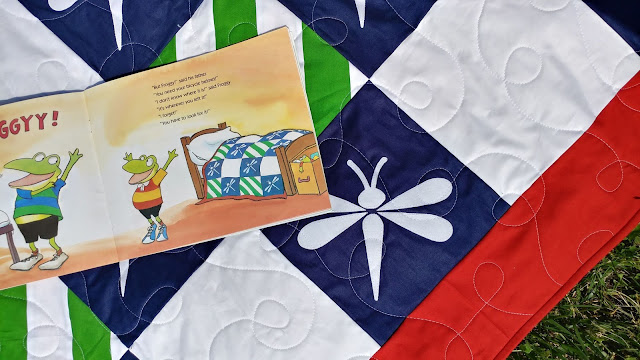 Dragonfly quilt from Let's Go, Froggy children's book