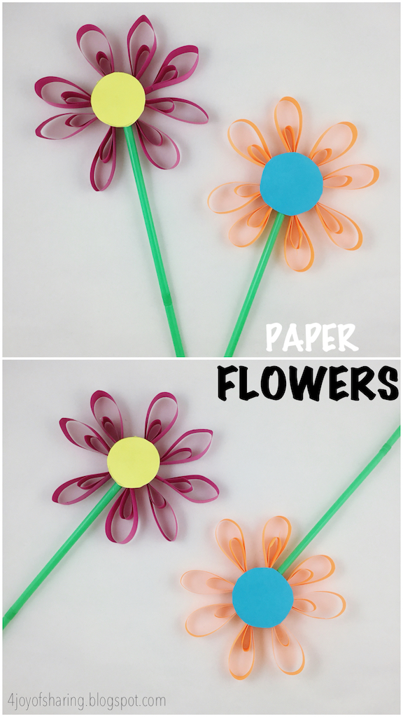 The joy of sharing paper flower craft kids craft flower craft preschool craft school crafts arts and crafts mightylinksfo