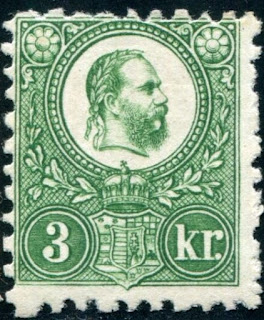 Hungarian stamps depicting Franz Joseph 3 Kronen